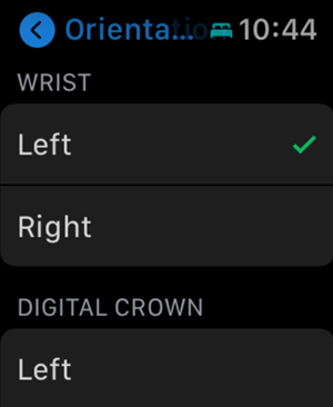 Apple Watch for left handed use