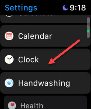 Watch Settings Clock